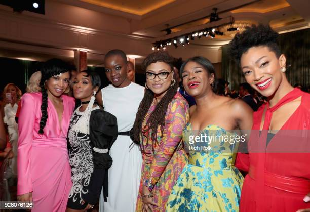 Susan Kelechi Watson Janelle Monae Honoree Danai Gurira Ava DuVernay Edwina Findley Dickerson and Sonequa MartinGreen onstage during the 2018 Essence...
