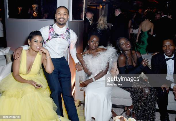Susan Kelechi Watson Michael B Jordan Danai Gurira Lupita Nyong'o and guest attend Netflix 2019 SAG Awards after party at Sunset Tower Hotel on...