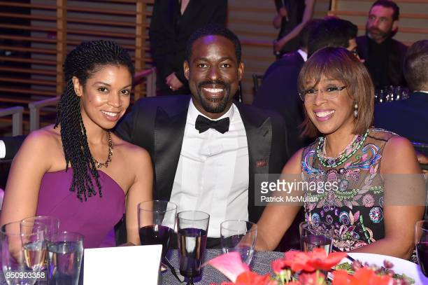 Susan Kelechi Watson Sterling K Brown and Gayle King attend the 2018 TIME 100 Gala at Jazz at Lincoln Center on April 24 2018 in New York City
