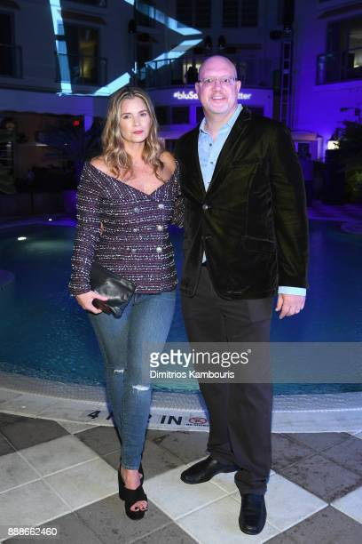 Susan Kilkenny and Robert Price attend the Maxim December Miami Issue Party Presented by blu on December 8 2017 in Miami Beach Florida