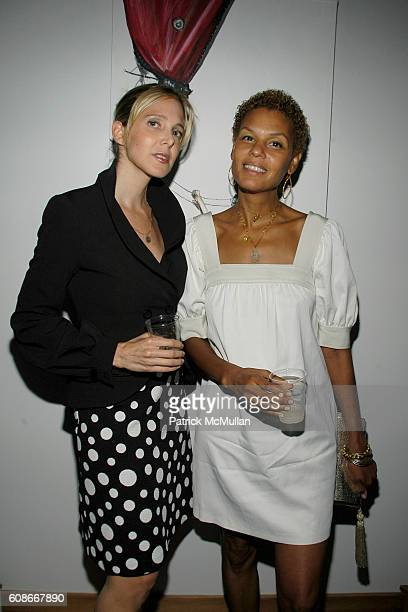 Susan Kirschbaum and Grace Fooden attend ALVIN VALLEY party for Artist SARAH ASHLEY LONGSHORE at Alvin Valley's Penthouse on June 20, 2007 in New...