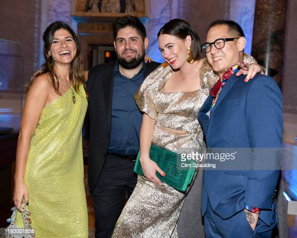Susan Korn Fabian von Hauske Alison Roman and Jeremiah Stone attend The Bloomberg 50 Celebration at The Morgan Library on December 09 2019 in New...