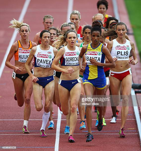 Susan Kuijken of the Netherlands Jo Pavey of Great Britain and Northern Ireland Emelia Gorecka of Great Britain and Northen Ireland Meraf Bahta of...