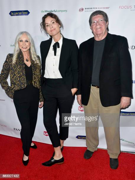 Susan Leibsohn Minnie Driver and Stuart Leibsohn attend the Dress For Success WorldwideWest Seventh Annual Shop For Success Vip Event In Los Angeles...