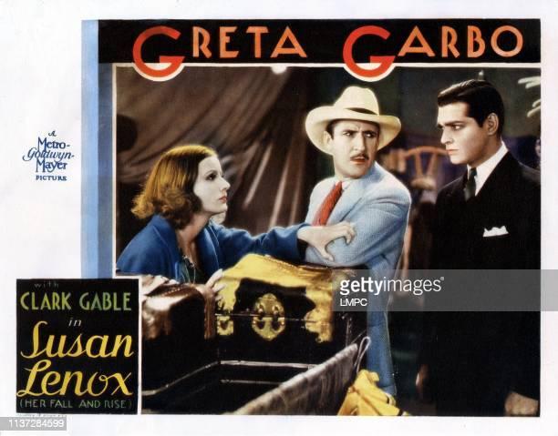 Susan Lenox Her Fall And Rise lobbycard from left Greta Garbo John Miljan Clark Gable 1931