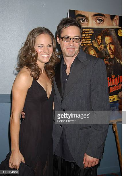 """Susan Levin and Robert Downey Jr. During """"The Singing Detective"""" New York Premiere - Arrivals and After Party at Loews Village Village in New York..."""