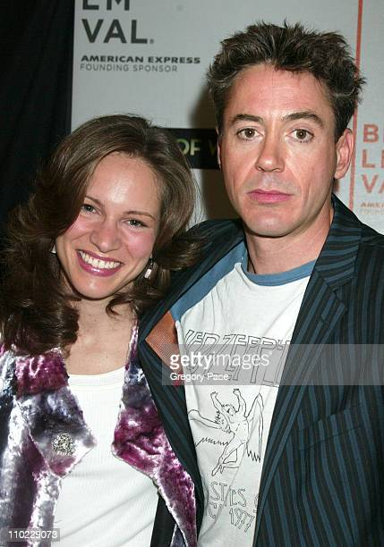 """Susan Levin, producer, and Robert Downey Jr. During 4th Annual Tribeca Film Festival - """"House of Wax"""" New York City Premiere - Arrivals at Stuyvesant..."""