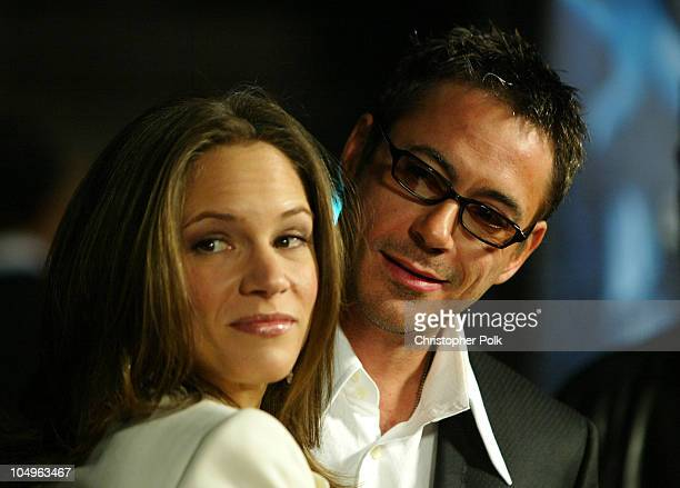 """Susan Levin, producer and Robert Downey, Jr. During """"Gothika"""" World Premiere at Manns Village Theater in Los Angeles, California, United States."""
