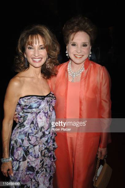 Susan Lucci and Cindy Adams during 31st Annual American Women in Radio Television Gracie Allen Awards Red Carpet at Marriot Marquis in New York City...