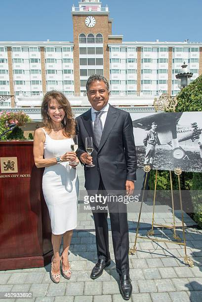 Susan Lucci and Fortuna Realty Group President Morris Moinian attend The Garden City Hotel 140th Anniversary Celebration at Garden City Hotel on July...