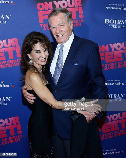 Susan Lucci and Helmut Huber attend On Your Feet Broadway Opening Night at Marquis Theatre on November 5 2015 in New York City