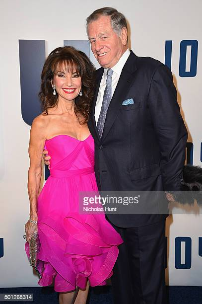 Susan Lucci and Helmut Huber attend the Joy New York Premiere at Ziegfeld Theater on December 13 2015 in New York City