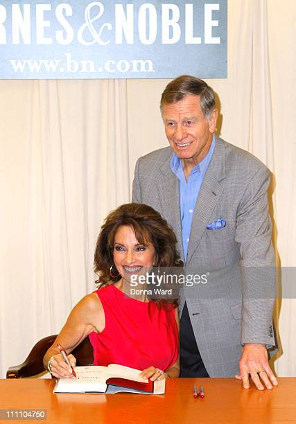 Susan Lucci and Helmut Huber sign copies of All My Life A Memoir at Barnes Noble 5th Avenue on March 29 2011 in New York City