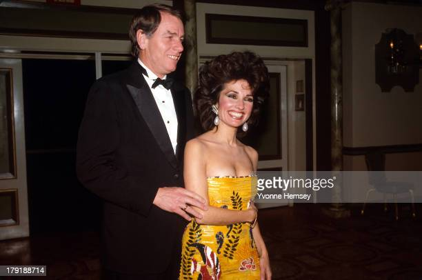 Susan Lucci and her husband Helmut Huber are photographed at Night of 100 Stars event March 8 1982 in New York City