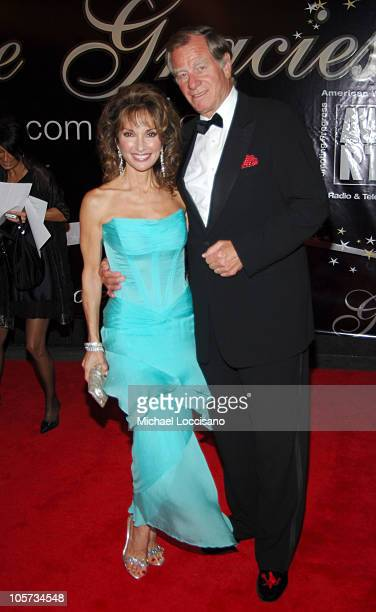 Susan Lucci and husband Helmut Huber during American Women in Radio Television's 30th Annual Gracie Allen Awards at The Marriott Marquis in New York...