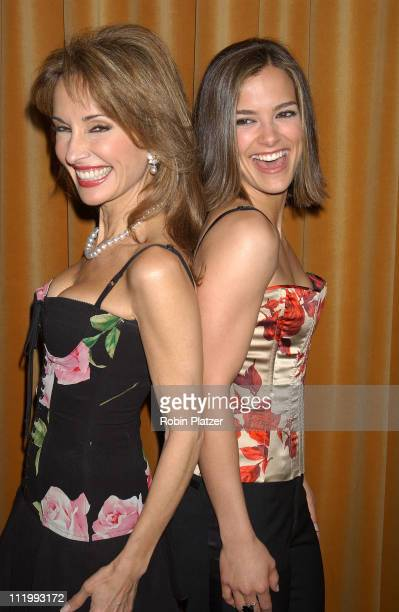 Susan Lucci and Rebecca Budig in Dolce Gabbana during Susan Lucci honored with the Linda Dano Heart Award at Marriott Marquis in New York City New...