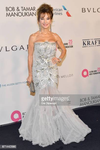 Susan Lucci attends the Elton John AIDS Foundation 25th Year And Honors Founder Sir Elton John During New York Fall Gala at Cathedral of St John the...