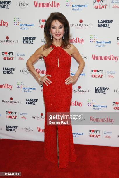 Susan Lucci attends Woman's Day Celebrates 16th Annual Red Dress Awards on February 12 2019 in New York City