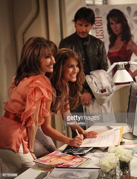 CHILDREN Susan Lucci Chrishell Stause and Ricky Paull Goldin in a scene that airs the week of March 22 2010 on ABC Daytime's 'All My Children' 'All...