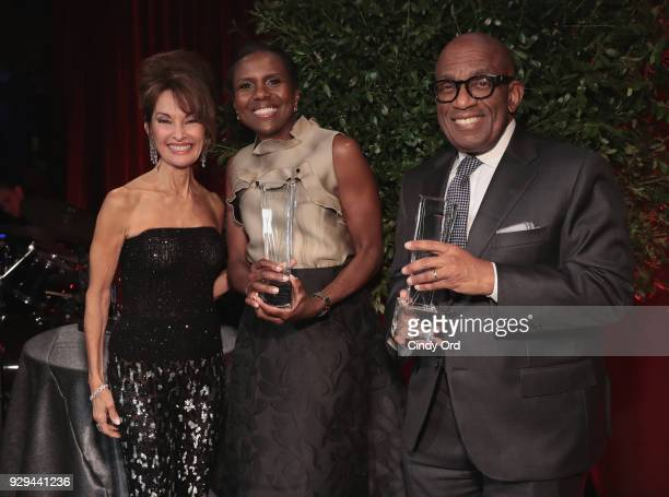 Susan Lucci Deborah Roberts and Al Roker attend the Adapt Leadership Awards Gala 2018 at Cipriani 42nd Street on March 8 2018 in New York City