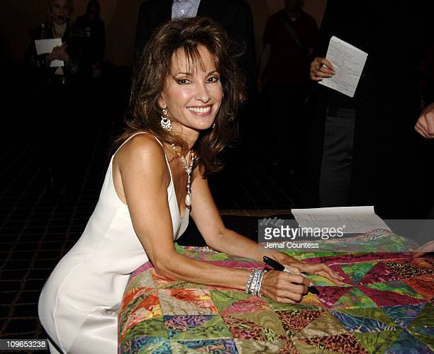 Susan Lucci during Broadway's Celebrity Benefit for Hurricane Relief Backstage at The Gershwin Theatre in New York City New York United States