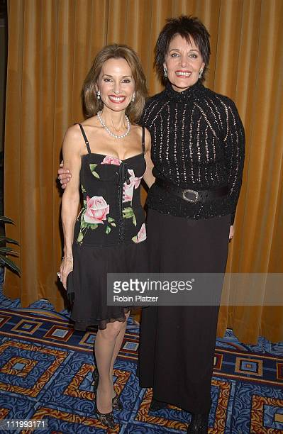 Susan Lucci in Dolce Gabbana and Linda Dano during Susan Lucci honored with the Linda Dano Heart Award at Marriott Marquis in New York City New York...