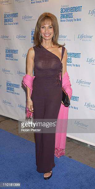 Susan Lucci in Versace during Lifetime's Acheivement Awards Women Changing the World at The Hammerstein Ballroom in New York City New York United...