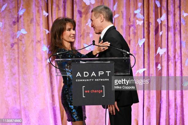 Susan Lucci introduces Tony Danza at the 2019 2nd Annual ADAPT Leadership Awards at Cipriani 42nd Street on March 14 2019 in New York City