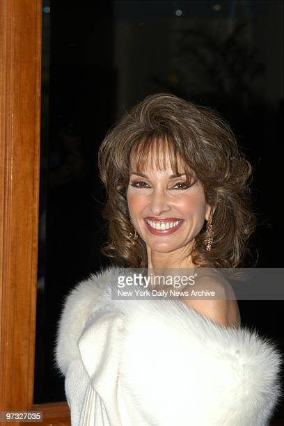 Susan Lucci is on hand at the Sheraton New York where she participated in an Evening of Music from Guys and Dolls to benefit The Iris Cantor Women's...