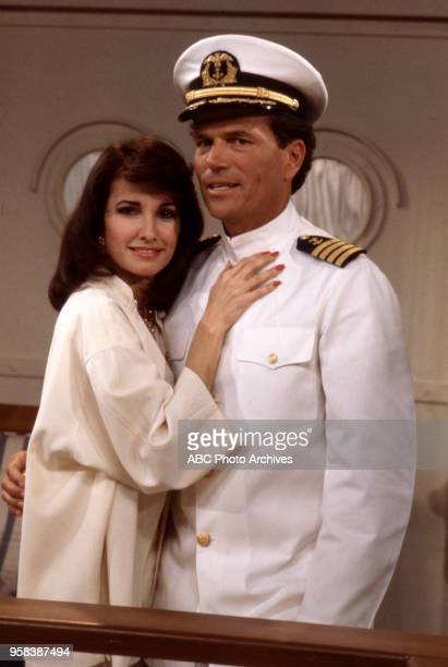 Susan Lucci Patrick Wayne on the set of Walt Disney Television via Getty Images's 'All My Children'