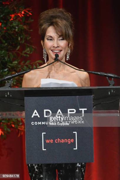Susan Lucci speaks on stage during the Adapt Leadership Awards Gala 2018 at Cipriani 42nd Street on March 8 2018 in New York City
