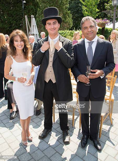 Susan Lucci Timothy Van Wickler and Fortuna Realty Group President Morris Moinian attend The Garden City Hotel 140th Anniversary Celebration at...
