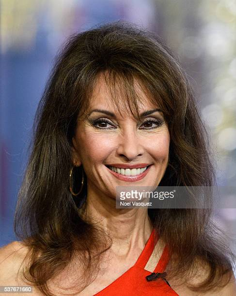 Susan Lucci visits 'Extra' at Universal Studios Hollywood on June 2 2016 in Universal City California