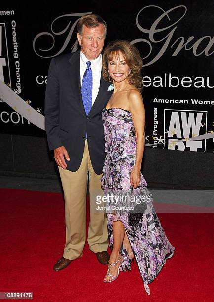 Susan Lucci with husband Helmut Huber during 31st Annual American Women in Radio Television Gracie Allen Awards Red Carpet at Marriott Marquis in New...