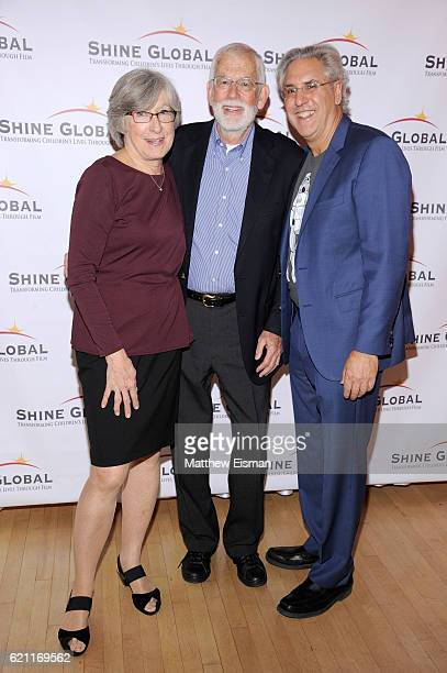 Susan MacLaury Bill MacArthur and Albie Hecht attend the Shine Global 2nd Annual Party Transforming Children's Lives Through Film at Helen Mills...