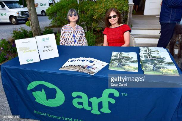 Susan Macy and Rebecca Seltzer attend ARF Thrift Shop Designer Show House Sale at ARF Thrift Treasure Shop on May 26 2018 in Sagaponack New York