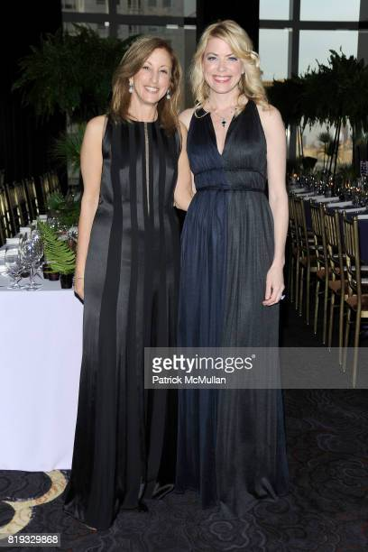 Susan Magazine and Amy McFarland attend NEW YORKERS FOR CHILDREN Spring Dinner Dance Presented by AKRIS at The Mandarin Oriental on April 8 2010 in...