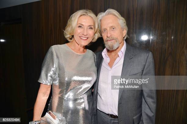 Susan Magrino and Michael Douglas attend Magrino PR 25th Anniversary at Bar SixtyFive at Rainbow Room on July 25 2017 in New York City