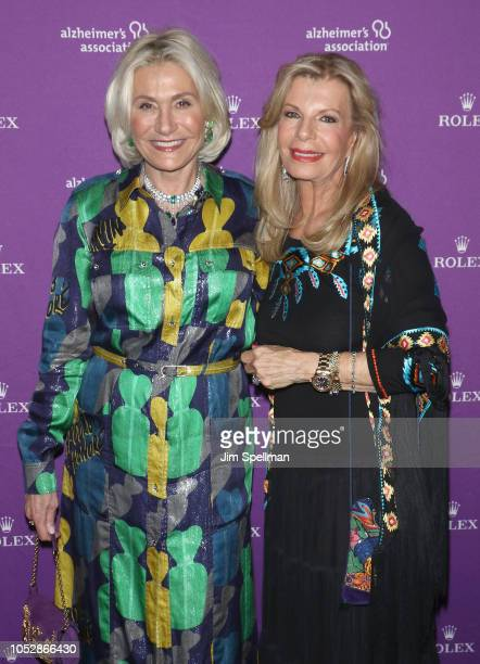 Susan Magrino and princess Yasmin Aga Khan attend the 35th Annual Alzheimer's Association Rita Hayworth Gala at Cipriani 42nd Street on October 23...