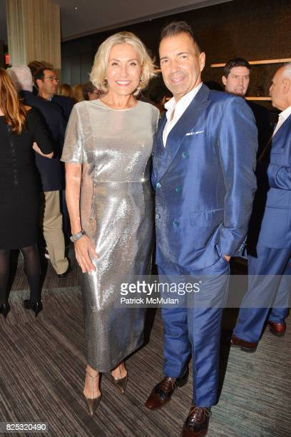 Susan Magrino and Richard Notar attend Magrino PR 25th Anniversary at Bar SixtyFive at Rainbow Room on July 25 2017 in New York City