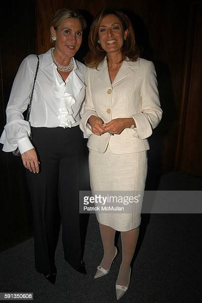 Susan Magrino and Suzy Welch attend Rupert Murdoch Hosts a Cocktail Reception for the Release of Jack Welch's Book Winning at Four Seasons on April 6...