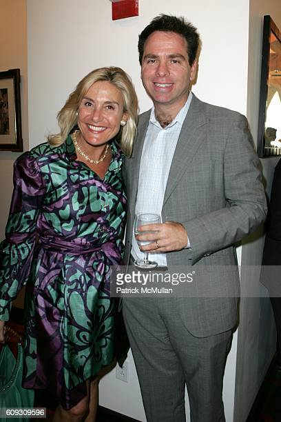 Susan Magrino Dunning and Richard Sicklos attend MARTHA STEWART SIRIO MACCIONI and ANDREW BORROK Host a Lucheon to Celebrate 'NO RESERVATIONS' at Le...