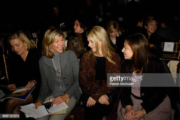 Susan Magrino Dunning Jamee Gregory Debbie Bancroft and Bettina Zilkha attend DOUGLAS HANNANT Fall 2009 Collection at The Plaza Hotel on February 19...