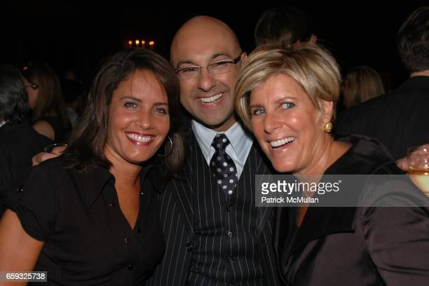 Susan Malvo Ali Velshi and Suze Orman attend HLN's Joy Behar Show Launch at The Oak Room on September 23 2009 in New York City
