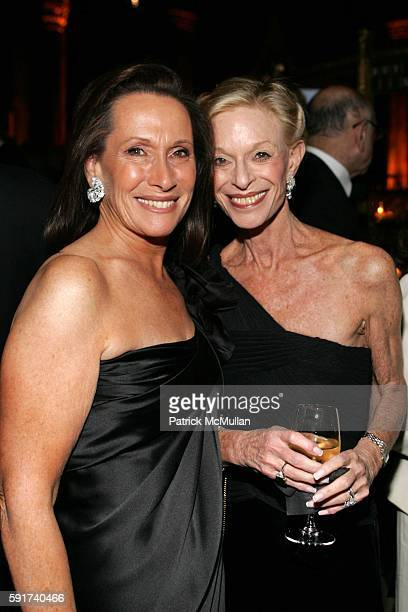 Susan Mark and Linda Lindenbaum attend The American Friends of the Israel Museum 40th Anniversary Gala at Cipriani 42nd St on November 6 2005 in New...