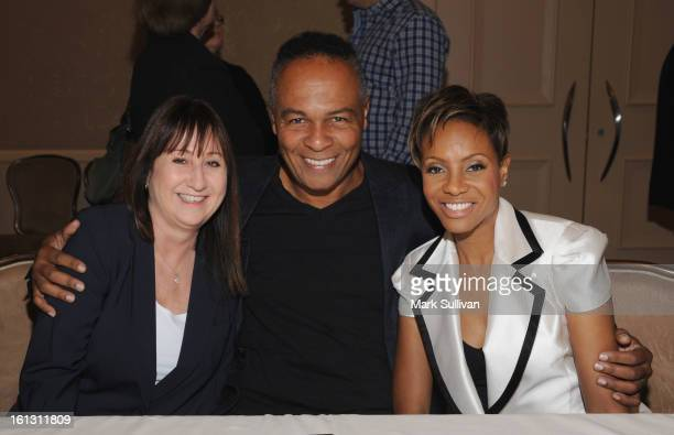 Susan Markheim Ray Parker Jr and MC Lyte during The 55th Annual GRAMMY Awards Congressional Luncheon with guest speaker Congressman Bob Goodlatte at...