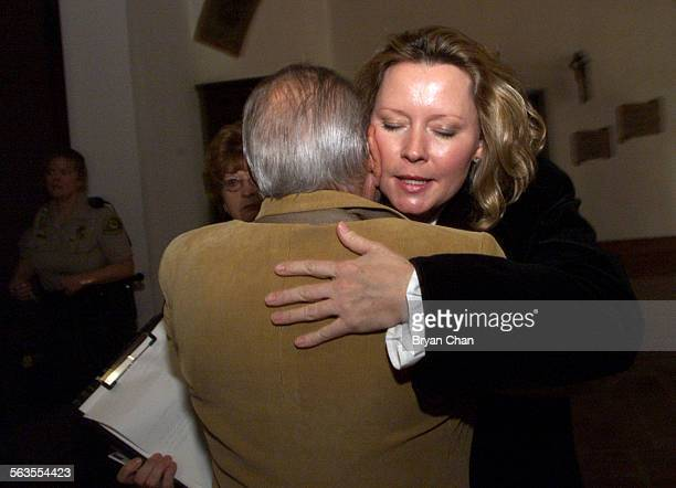 Susan Markowitz right hugs her father in law Sam Markowitz after the sentencing for Ryan Hoyt in Santa Barbara County Superior Court Friday He was...