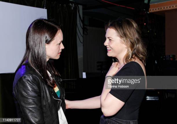Susan May Pratt and Larisa Oleynik attend the unauthorized musical parody of '10 Things I Hate About You' at Rockwell Table and Stage on April 06...