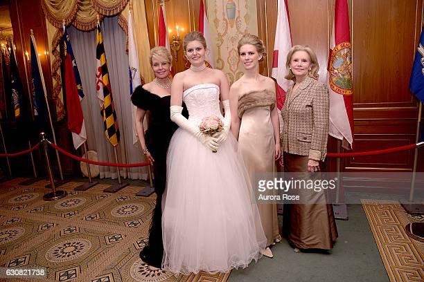 Susan Miller Blaise Miller Hadley Nagel and Susan Nagel attend 62nd International Debutante Ball at The Pierre Hotel on December 29 2016 in New York...