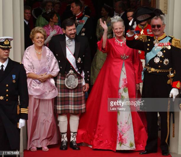Susan Moody and John Donaldson and Danish Royals Her Majesty Queen Margrethe II of Denmark and His Royal Highness Prince Henrik of Denmark